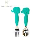 MARCUS&MARCUS 動物樂園不鏽鋼叉匙餐具組(大象)