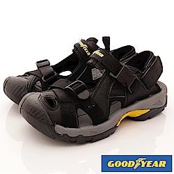 GOODYEAR-護趾運動涼鞋-EI3660黑(男段)