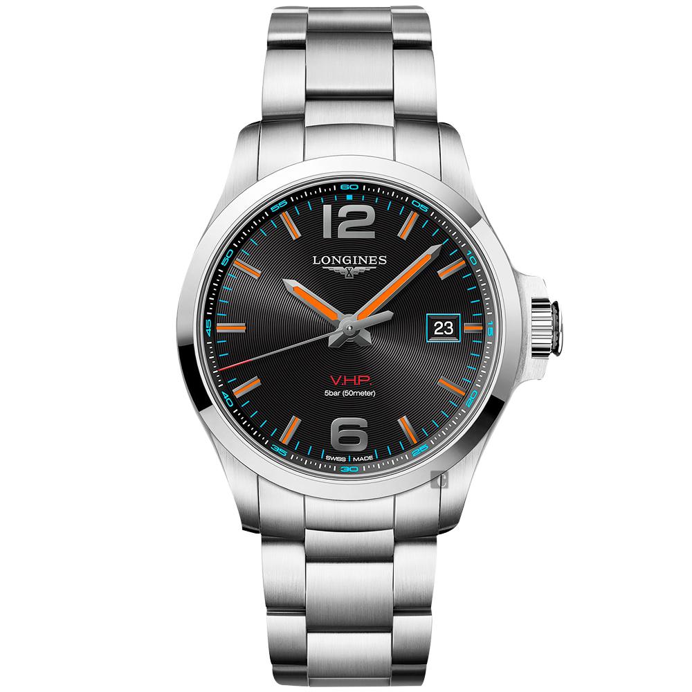 LONGINES浪琴 征服者系列V.H.P.萬年曆黃金海岸特別版手錶-43mm