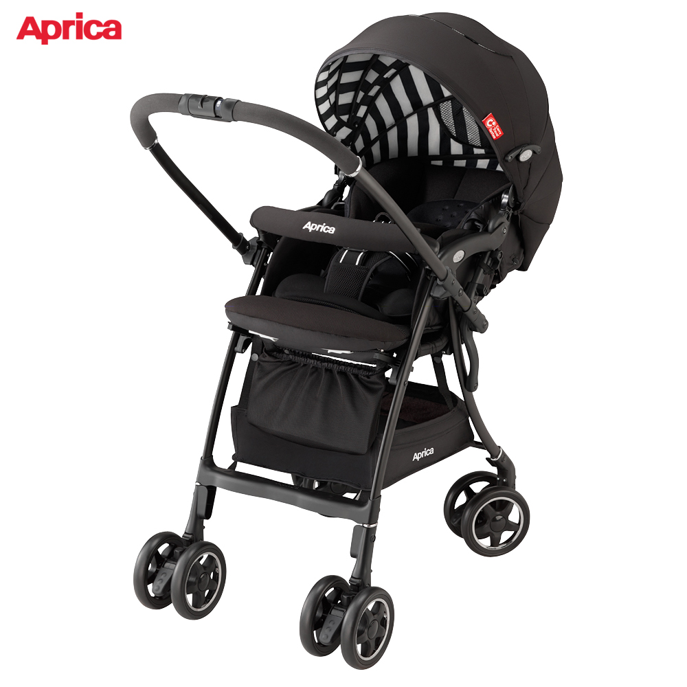 Aprica 雙向輕量型手推車 LUXUNA AD 音樂城堡 黑白音階 @ Y!購物