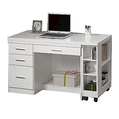 品家居 泰莎4尺多功能伸縮電腦桌/書桌(三色可選)-121x59.5x76cm免組
