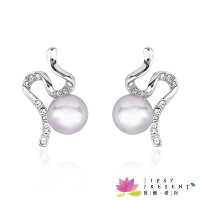 微醺禮物 威尼斯 奧登水鑽 珍珠光采 耳環