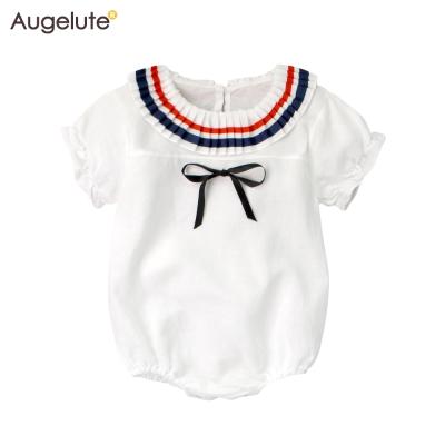 baby童衣 前綁帶海軍領公主袖包屁衣 61186