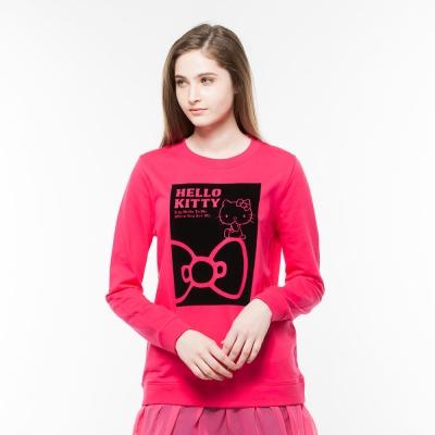 Hang Ten - 女裝 - Kitty蝴蝶結仿兩件式上衣 - 粉紅