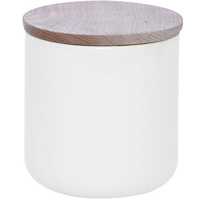 EXCELSA 木蓋陶製密封罐(白800ml)