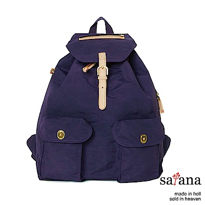 satana - 休閒束口後背包 - 紫色