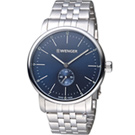WENGER Urban系列小秒針紳士腕錶(01.1741.107)藍/42mm