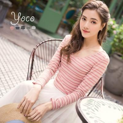 東京著衣-yoco 簡約基本感多色條紋上衣-S.M(共五色)