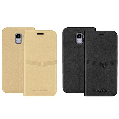 Metal-Slim Samsung Galaxy J6 荔枝壓紋TPU站立皮套