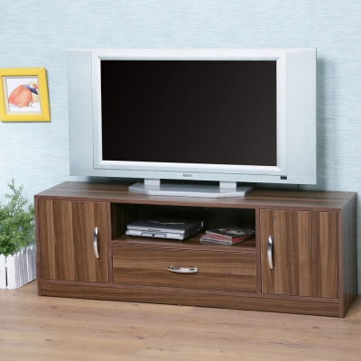 Homelike 艾爾電視櫃(淺胡桃色)-120x30x40cm