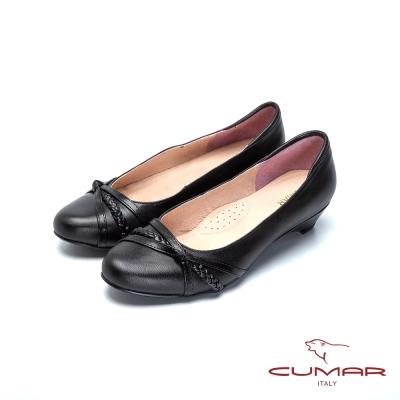 CUAMR嚴選舒適-上班族OL低跟鞋-黑