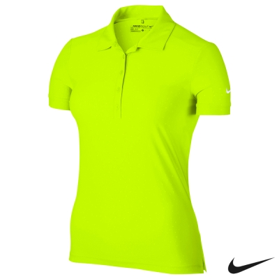 NIKE GOLF ICON PRINT 短袖 POLO衫-黃803050-702