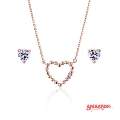 YUME 甜甜心套組(項鍊+耳環)
