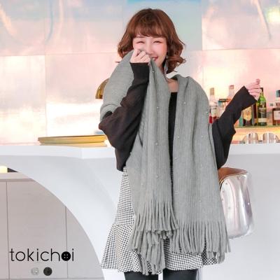 東京著衣 秋冬限定珍珠保暖圍巾(共二色)