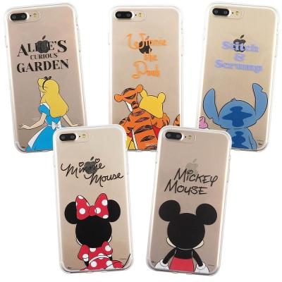 Disney迪士尼iPhone 7 Plus5.5可愛透明保護軟套-背影系列