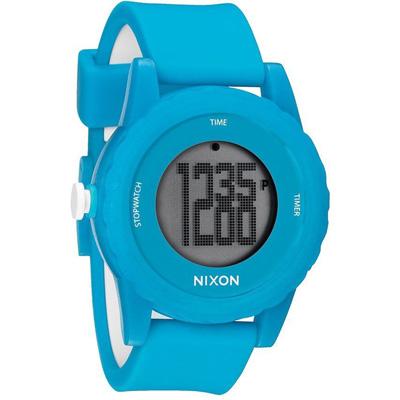 NIXON The GENIE 玩酷生活矽膠運動腕錶(藍)-44mm