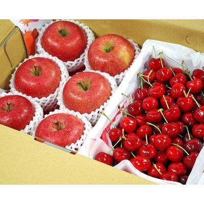 【鮮果日誌】甜蜜禮讚櫻桃禮盒(日本蜜蘋果6入+智利櫻桃2.5台斤)