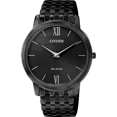 CITIZEN星辰 Eco-Drive 光動能紳士薄型手錶-黑/39mm