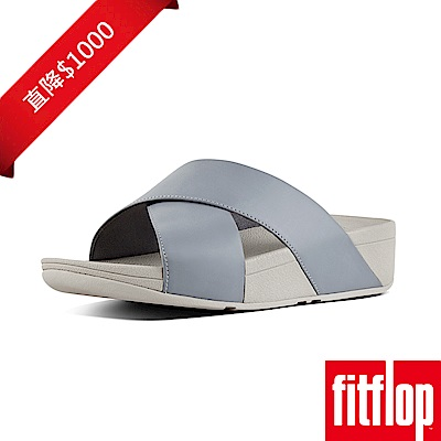 FitFlop  LULU™ CROSS SLIDE SANDALS LEATHER藍