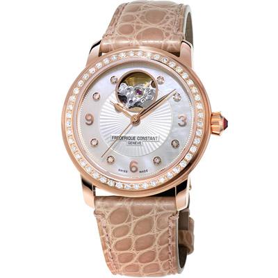 康斯登 CONSTANT HEART BEAT心跳系列女腕錶-膚褐色/34mm