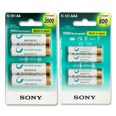 SONY 充電電池(3號2000mAh+4號800mAh 各4顆)
