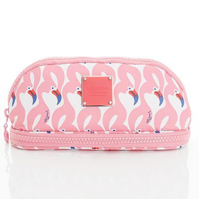VOVAROVA空氣包-刷具化妝包-粉粉紅鶴