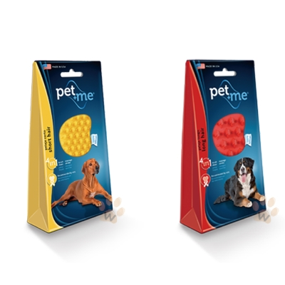 Pet+me 犬用高性能橡膠除毛刷 1入