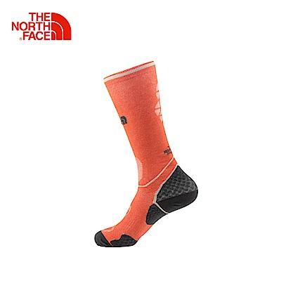 The North Face北面橘灰色舒適透氣戶外運動襪子