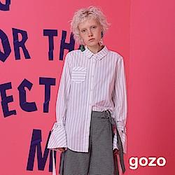 gozo 條紋喇叭袖襯衫(二色)