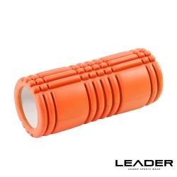 Leader X 環保EVA專業舒展塑身按摩瑜珈滾筒 滾輪 瑜珈柱 橘色 - 急速配