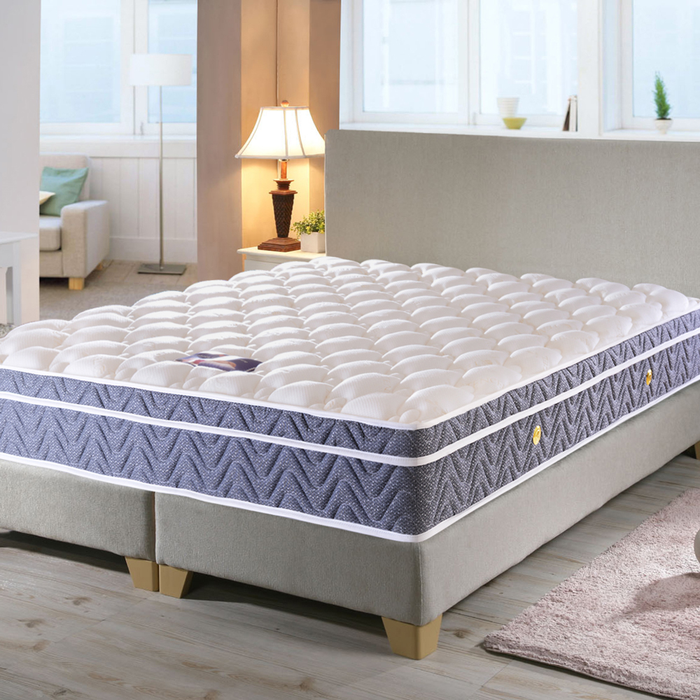 LooCa天絲+智慧五段式護背型獨立筒床-單人