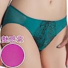 思薇爾 香榭玫瑰系列M-XL蕾絲低腰三角內褲(魅惑紫)