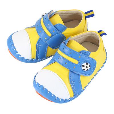 Swan天鵝童鞋-小足球翹頭學步鞋1497-黃