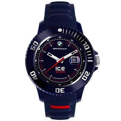 Ice-Watch BMW運動系列 摩登潮流手錶-藍x紅/48mm