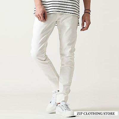 休閒貼身窄管褲(5色) ZIP日本男裝