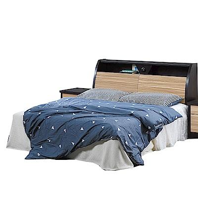 品家居  多妮絲5尺木紋雙色雙人床台組合(不含床墊)-152x218x100cm免組