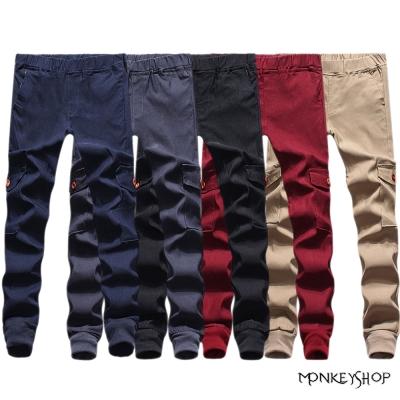小猴子的賣場 超彈力雙側口袋束口慢跑褲Jogger pants-5色