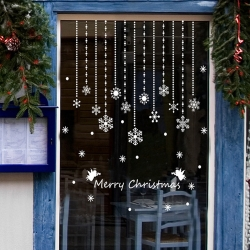 時尚壁貼 - 聖誕雪花吊飾