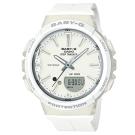 BABY-G 熱愛運動女性配備計步設計閒錶(BGS-100-7A1)簡約白42.6mm