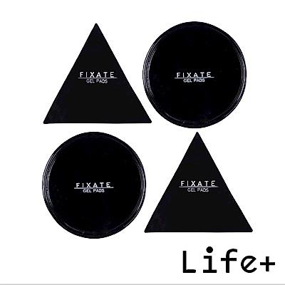 Life Plus 無痕隨行矽膠貼墊/萬用貼/隨手貼 (黑色-三角+圓形)X2