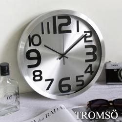 TROMSO風尚義大利金屬時鐘-灰鋁時尚
