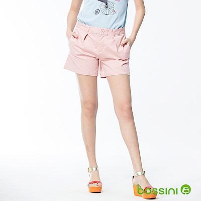 bossini女裝-素色卡其短褲01嫩粉
