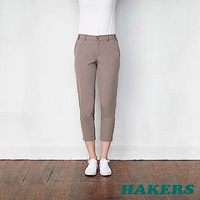 【HAKERS 哈克士】女-抗UV快乾彈性八分褲 -銀河灰