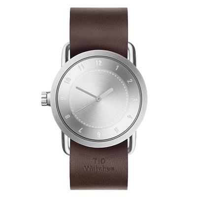 TID Watches No.1 TID-N1-36-WW-銀X咖啡錶帶/36mm
