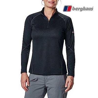 【Berghaus貝豪斯】女款銀離子除臭抗菌抗UVT恤S15F22-黑