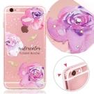 VAT APPLE IPhone 6s Plus 奧地利水晶彩繪防摔氣墊手機鑽殼-花綻