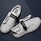 FILA 男款FX-VELTRAP 玩色雙魔鬼氈板鞋-白 1-C110S-001