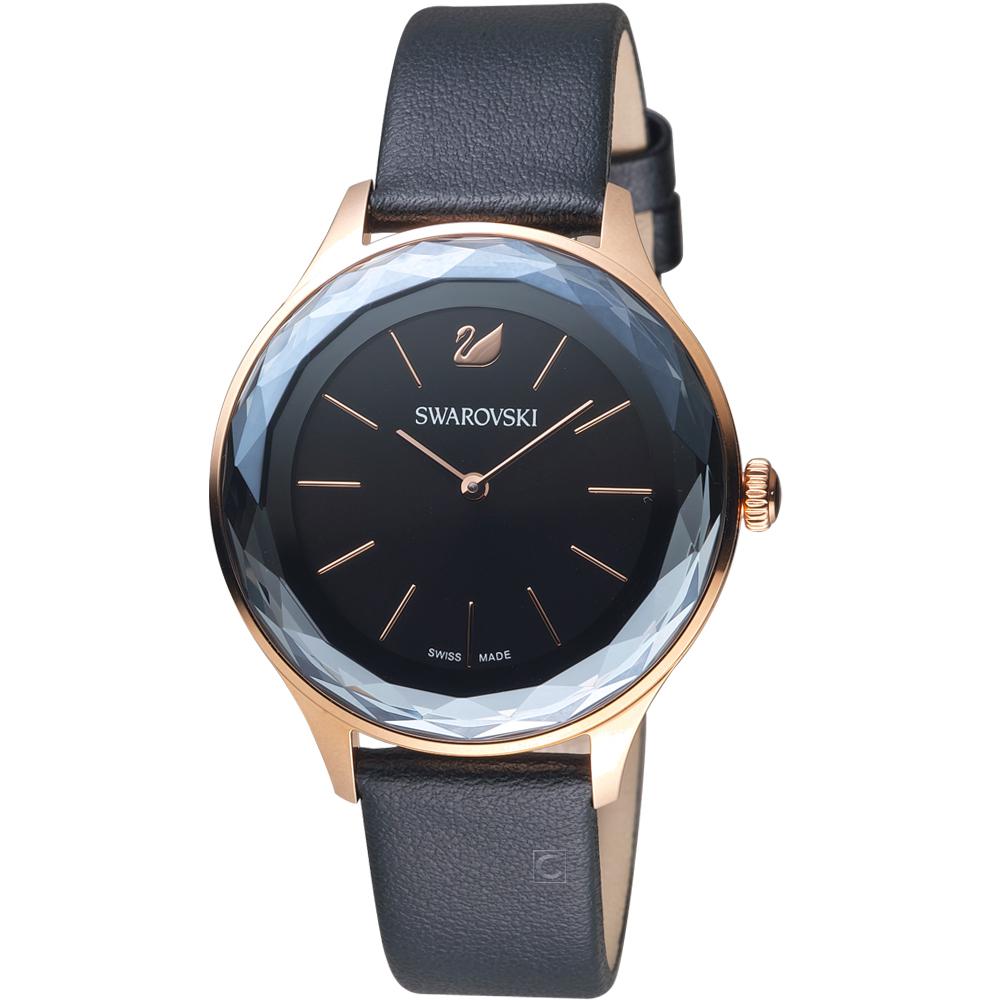 SWAROVSKI 施華洛世奇 Octea Nova系列都市切面腕錶-36mm/黑色