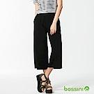 bossini女裝-素色七分寬褲07黑