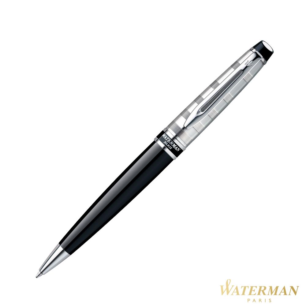 WATERMAN 權威系列 時尚銀蓋黑桿 原子筆